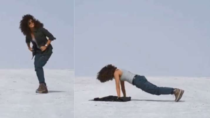 Taapsee Pannu shares hilarious process of making random video; does push-ups in middle of Rann of Kutch |WATCH thumbnail