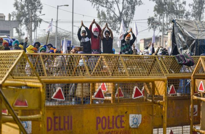 Farmers protest Singhu Border Delhi police security tightened   India News – India TV