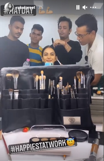India Tv - Rakul begins shooting