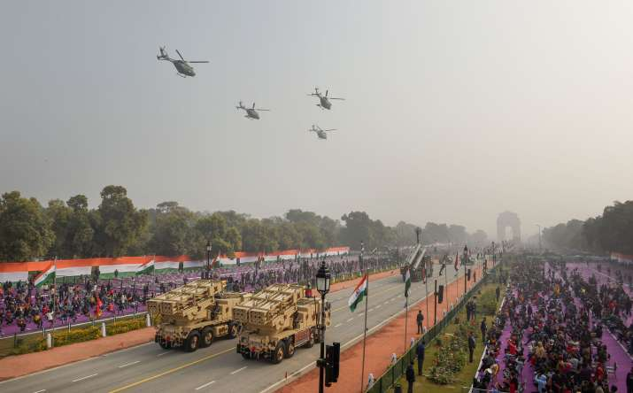 India Tv - New Delhi: Uttar Pradesh tableau moves past Rajpath during the full dress rehearsal for the upcoming Republic Day Parade, in New Delhi, Saturday, Jan. 23, 2021.