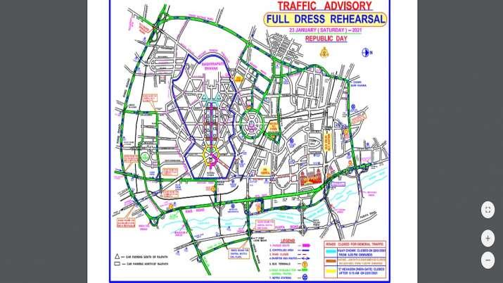India Tv - Delhi traffic advisory, Republic Day parade traffic advisory