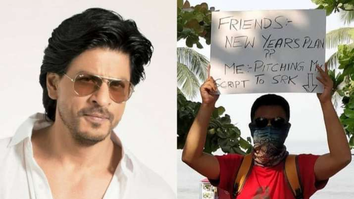 Bengaluru based filmmaker camps outside Shah Rukh Khan's Mannat to pitch his film story