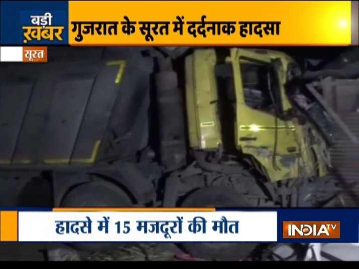 Surat: Speeding truck mows down 15 sleeping migrant labourers, PM Modi expresses grief