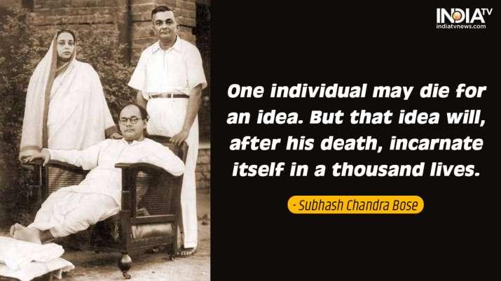 India Tv - Inspirational quotes by Netaji on Parakram Diwas
