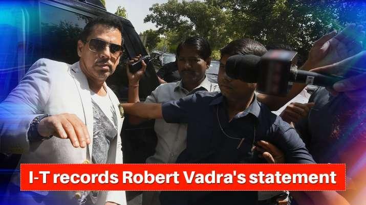 I-T records Robert Vadra's statement in Benami properties case