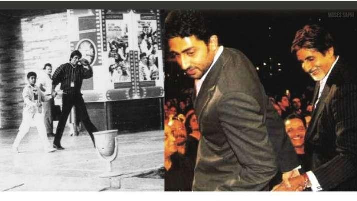 Amitabh Bachchan wishes son Abhishek Bachchan with 'then & now' birthday post