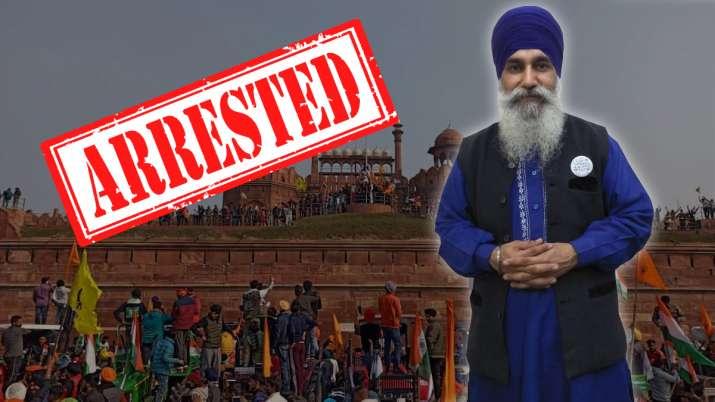 red fort violence, iqbal singh arrest