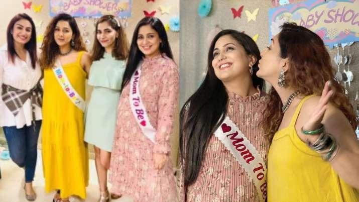 Neeti Mohan hosts baby shower for Harshdeep Kaur; see pics