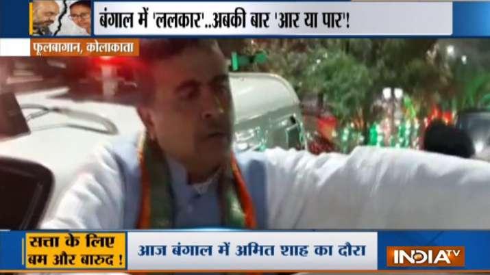 BJP march in kolkata
