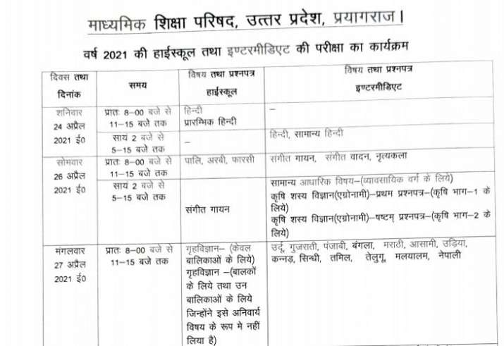 India Tv - UP Class 10, 12 Board Exams: Dates announced for high school, intermediate exams