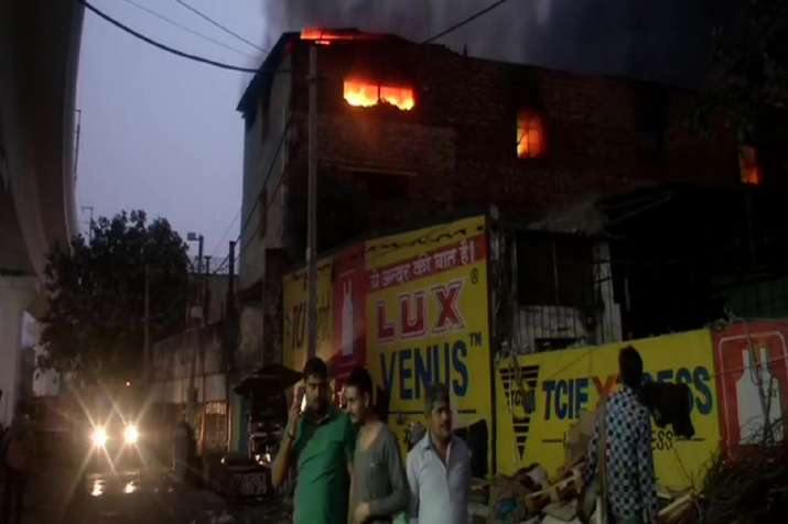 Fire at cosmetics factory in Delhi's Pratap Nagar, one dead