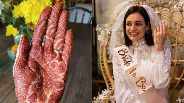Dia Mirza-Vaibhav Rekhi wedding festivities begin, actress flaunts mehendi; see pics