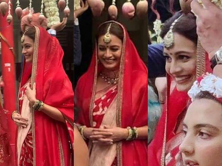 India Tv - Dia Mirza's first wedding pics out, actress looks stunning in red ensemble | see pics