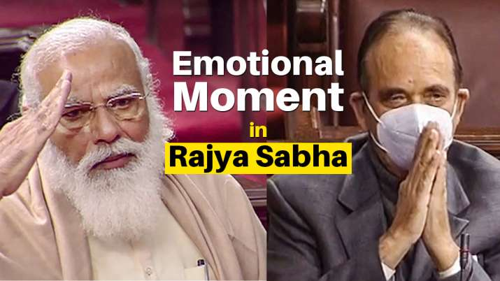 pm modi rajya sabha speech today,  ghulam nabi azad, pm modi emotional speech,prime minister narendr