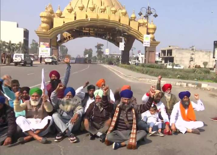 Chakka Jam: Farmers in Punjab, Haryana block national,