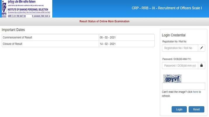 IBPS RRB PO Mains Result 2021 declared. Direct link to download