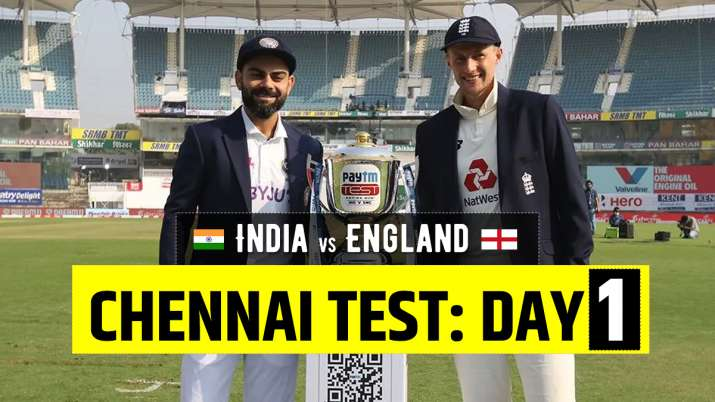 Live Score India vs England 2nd Test Day 1: Live Updates from Chennai