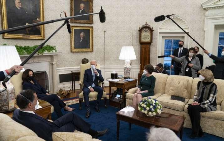 Biden, Harris meet 10 Republican senators on USD 1.9 trillion COVID-19 relief package