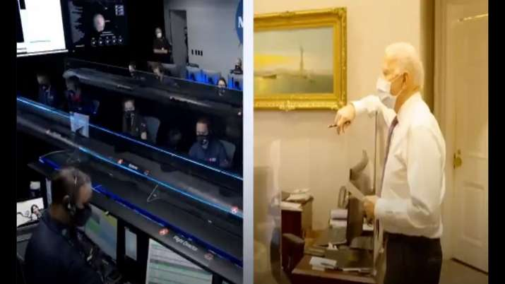 Was a remarkable feat, tweets Joe Biden after witnessing