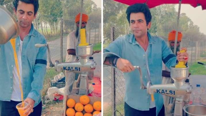 Sunil Grover flaunts his juice-making skills amid TKSS return rumours | WATCH