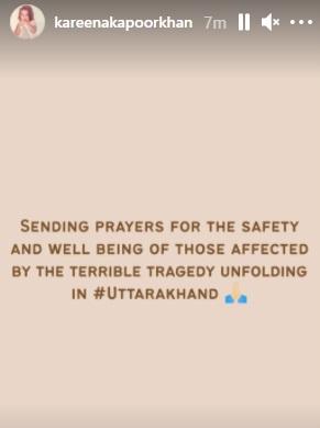 India Tv - Kareena Kapoor Khan, Dia Mirza, Akshay Kumar, other Bollywood celebs react to Uttarakhand glacier bu