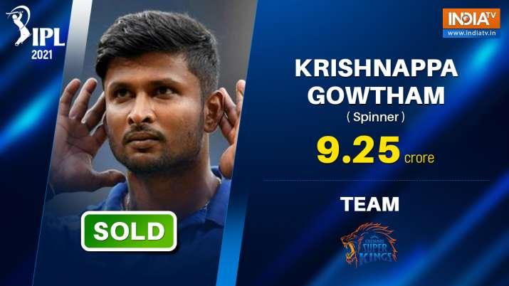 krishanppa gowtham, krishnappa gowtham ipl, ipl auction, ipl 2021 auction, gowtham csk, csk 2021, ch