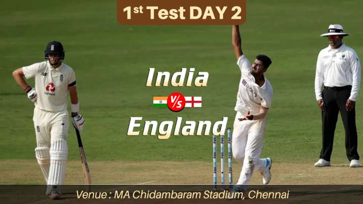 Live Cricket Score India vs England 1st Test Day 2: Live Updates from Chennai