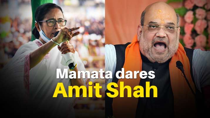 Bengal CM Mamata Banerjee has challenged Home Minister Amit