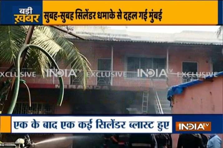 Mumbai: 4 injured in a cylinder blast at Andheri godown
