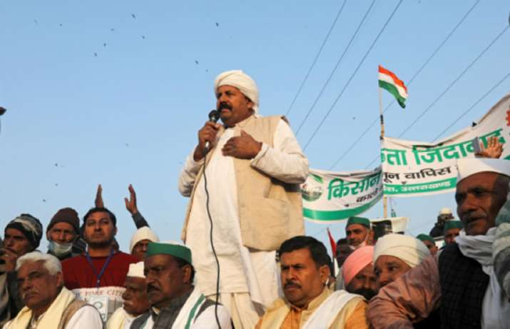 Naresh Tikait, the national president of the Bharatiya Kisan Union