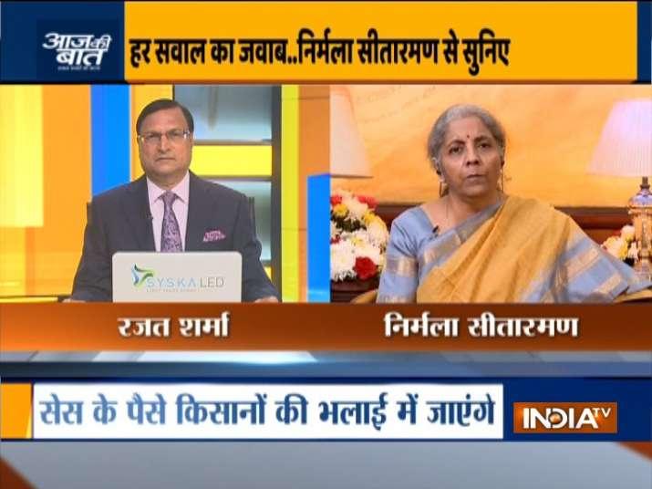 nirmala sitharaman on aaj ki baat, nirmala sitharaman, fiscal deficit budget 2020, nirmala sitharama