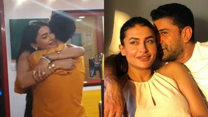 Bigg Boss 14 former contestant Eijaz's funny reaction as Pavitra Punia, Shardul share bear hug