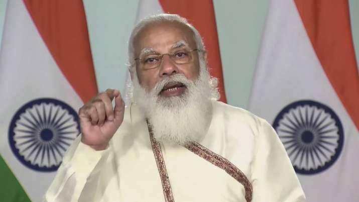File photo: Prime Minister Narendra Modi delivers his