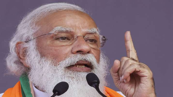 Prime Minister Narendra Modi addresses public meeting in