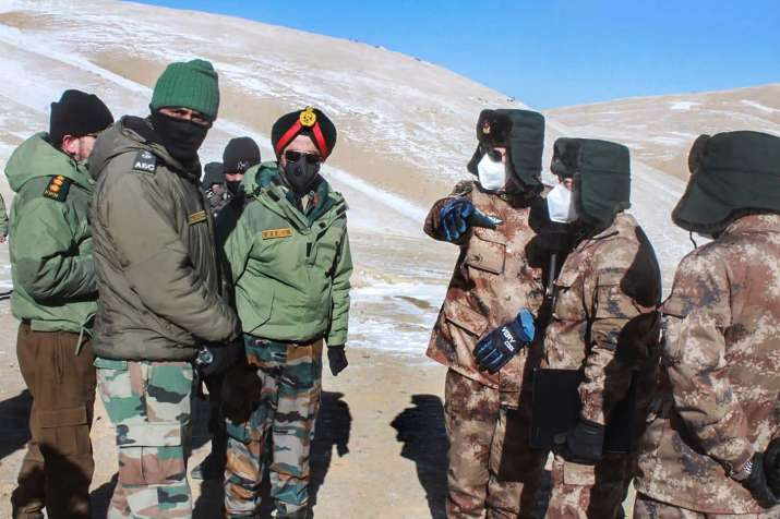 Ladakh: Indian and Chinese troops and tanks disengaging