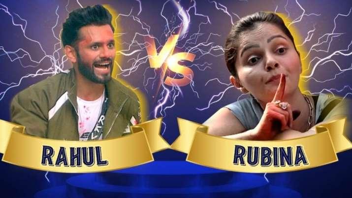 India Tv - Rahul Vaidya-Rubina Dilaik's clash