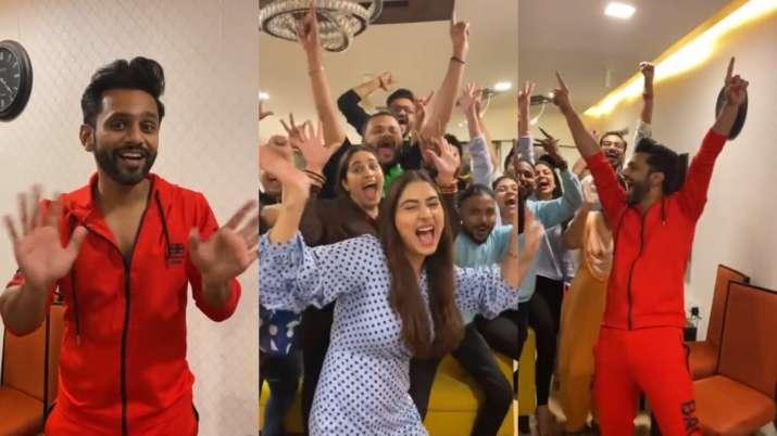 BB14 runner up Rahul Vaidya joins 'pawri ho rhi hai' trend with Disha Parmar   WATCH
