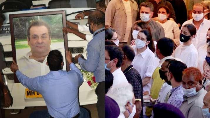 רג'יב קאפור נשרף בנוכחות בני משפחה וחברים