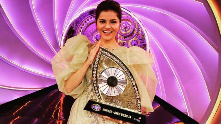 Rubina Dilaik elated after winning Bigg Boss 14 trophy, thanks fans on Instagram. Watch video