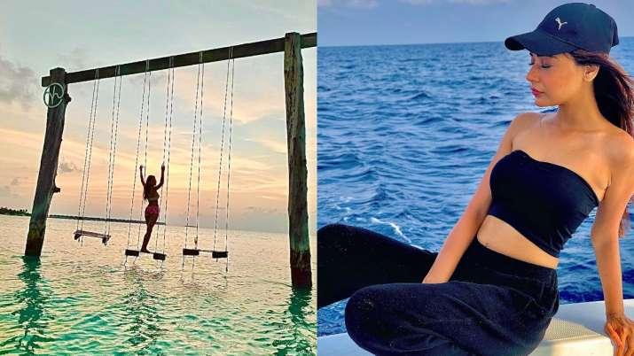 Sara Khan holidays at Maldives, says she needed break | see pics