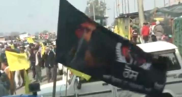 Bhindranwale flag Chakka jam protest, Chakka jam protest, Chakka jam protest Ludhiana, Bhindranwale