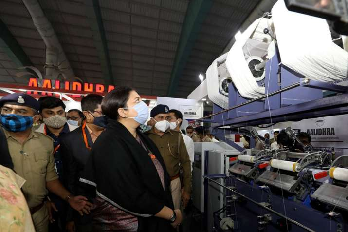 Union Minister of Textiles Smriti Irani at the inauguration of SITEX-2021 (Surat International Texti