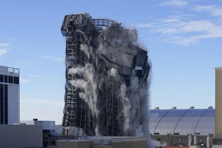 VIDEO: Former Trump casino in Atlantic city demolished with 3,000 sticks of dynamite