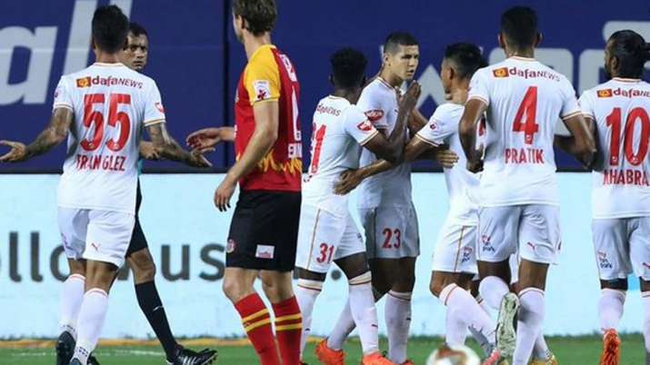 Bengaluru went into the break with a comfortable two-goal