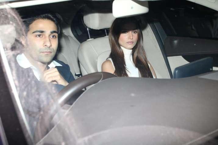 India Tv - Lovebirds Aadar Jain & Tara Sutaria outside the Kapoor mansion on Sunday.