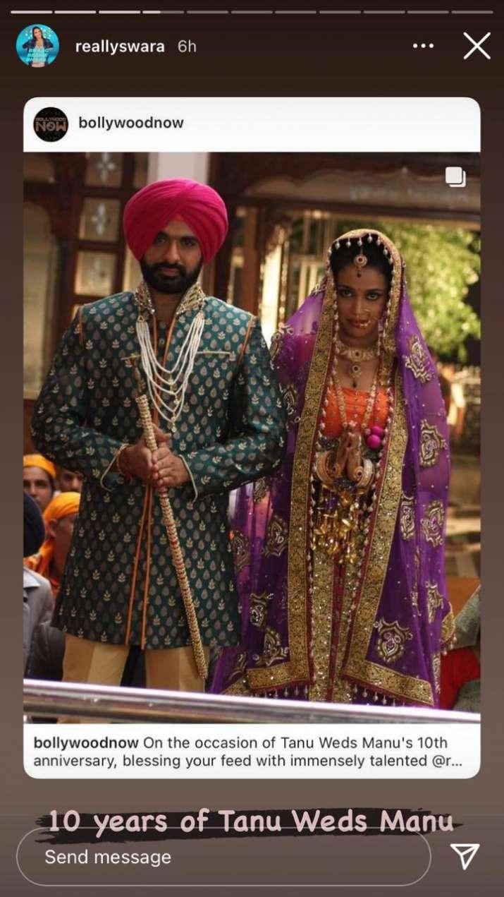 India Tv - Swara BHasker, Tanu Weds Manu