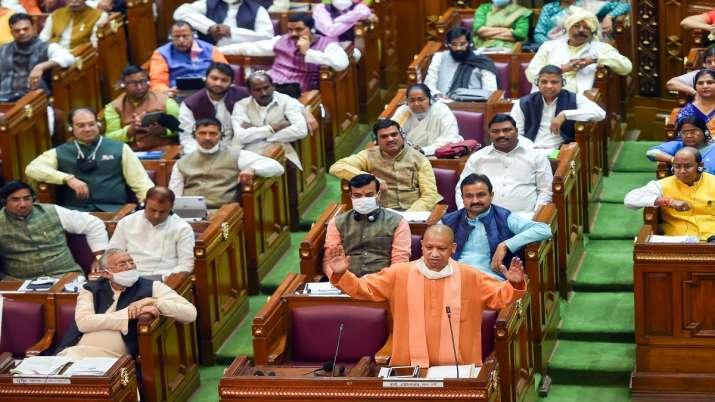 Uttar Pradesh Chief Minister Yogi Adityanath speaks during