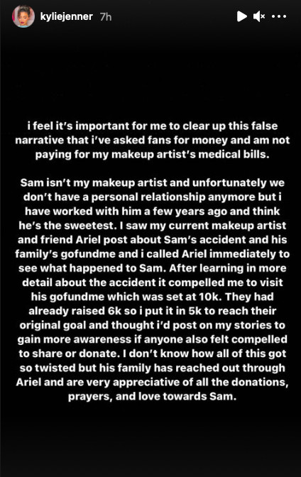 India Tv - Kylie Jenner's clarification