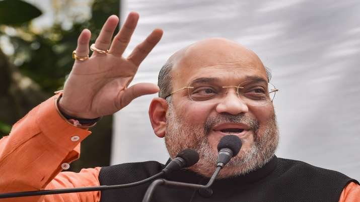Union Home Minister Amit Shah addressing a press conference