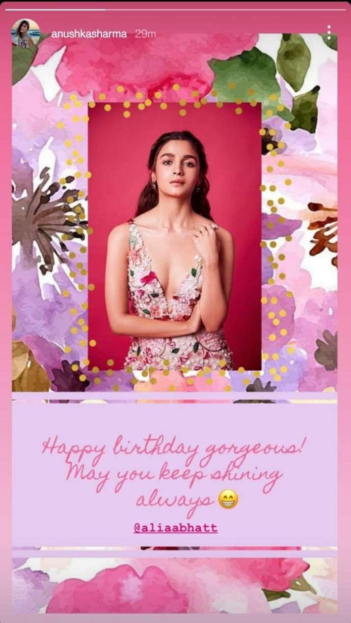 India Tv - Anushka's birthday wish for Alia